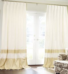 Hand Made Double Bordered Custom Silk Drapes and Roman Blinds on Sale | DrapeStyle | 800-760-8257