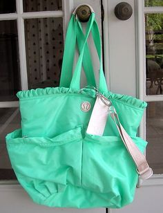 LULULEMON Athletica BLISS BAG Tote MENTHOL Green TRAVEL DANCE YOGA Laptop | eBay