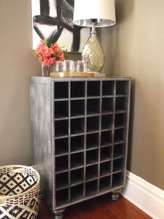 Restoration Hardware Inspired Wine cabinet by The Styled Soul