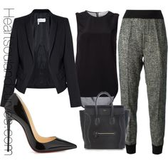 """""""Black Is a Color..."""" by adoremycurves on Polyvore"""