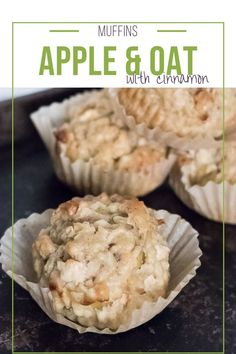 A quick and yummy muffin your kids will love and you will feel good about them eating. Wholegrains. Healthy. Full of aaples and oatmeal. Apple Oatmeal Muffins, Apple Cinnamon Oatmeal, Low Fat Snacks, Healthy Snacks, Healthy Recipes, Best Homemade Cookie Recipe, Apple Recipes, Baking Recipes, Baked Oats