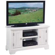 Naples White TV Stand   Overstock.com one of the only ones I can get to fit a funny space