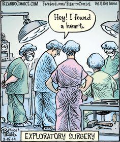 Bizarro - Exploratory Surgery. Dan Piraro.
