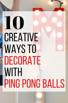 Wonder what to do with ping pong balls? check out these ping pong diy crafts. Cheap and easy way to decorate your living room, bedroom and home on a budget. So grab some ping pong balls on you next trip to the dollar store. #hometalk Crafts Cheap, Diy Crafts, Kids Office, Diy Home Accessories, Craft Tutorials, Diy Projects, Thanksgiving Decorations, Dollar Stores, Decorating Tips