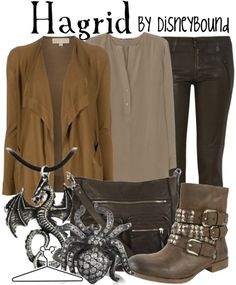 "Click through for [currently] 193 tags ""Harry Potter"" on the DisneyBound fashion blog -- includes outfits inspired by practically everyone and everything you can think of in the series, including a howler and a snitch!"