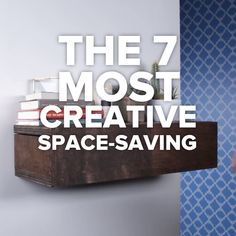 The 7 Most Creative Space-Saving Hacks #DIY #space #creative #counter #oraganization