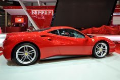 Ferrari just debuted the first turbocharged car it's made in decades, and it's a beauty http://bloom.bg/1Fb15bo  #GIMS