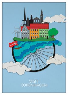 Copenhagen Tourist Poster 2013 Made by BjørnOne