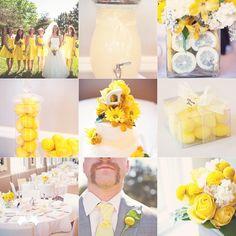 Sommer Wedding Idee---Zitronen Tischdekro für Sommerhochzeit!