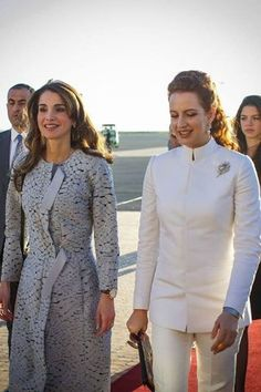 Queen Rania in Nina Ricci Coat