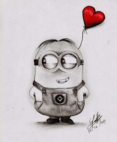 Minion Bob Pencil Drawing