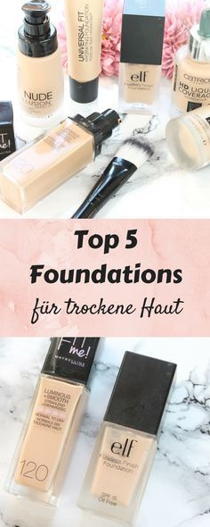 Ich zeige euch heute auf meinem Blog die 5 besten Foundation für trockene Haut! Ideal auch als Winterfoundation geeignet, da sie ein glowy Finish hinterlassen. Es handelt sich bei allen Produkten um Drogerie Foundation unter 10€! Mehr erfährst du nach dem Klick auf den Blog.