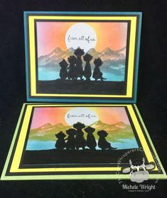 The Gangs All Meer Silhouette Card Masculine Birthday Cards, Masculine Cards, Pop Up Cards, Cool Cards, Happpy Birthday, Stamping Up Cards, Rubber Stamping, Paper Art, Paper Crafts