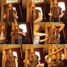 Girls Short Haircuts, Short Girls, Very Long Hair, Long Hair Cuts, Hair Transformation, Short Hair Styles, Barber Chair, Rapunzel, Floor