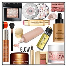 """""""Get a Glow 2"""" by kleinwillwin ❤ liked on Polyvore featuring beauty, Bobbi Brown Cosmetics, Estée Lauder, Giorgio Armani, Yves Saint Laurent, By Terry, Wander Beauty, Sonia Kashuk, Bliss and Eve Lom"""