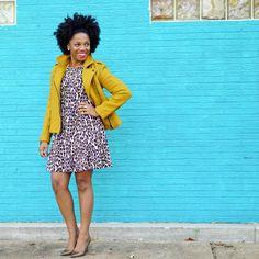 Shop the Look from Economy of Style on ShopStyleMustard Moto Jacket, Leopard print dress Leopard Outfits, Leopard Dress, Mustard Pants, Mustard Yellow, Work Fashion, Fashion Looks, Budget Fashion, Black Women Fashion, Petite Dresses