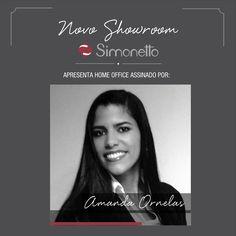 Novo Showroom Simonetto - Home Office By Amanda Ornelas Amanda, Showroom, Home Office, Architecture, Interiors, Home Offices, Office Home, Fashion Showroom