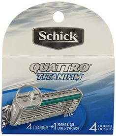 Schick Quattro Cartridges, Titanium Coated Blades, 4 Packs of 4 Cartridges (16 Total) -- Details can be found by clicking on the image.