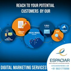 Digital Marketing an online market place used for promotion of business & reach targeted customers. Our Digital Marketing is creative and effective way to reach more customer. It helps to expand your business presnece online. Mail Marketing, Online Marketing, Social Media Marketing, Advertising Services, Digital Marketing Services, Target Customer, Pune, Loyalty, Seo