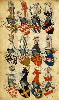 Armorial Bellenville, 1364-1386, BnF