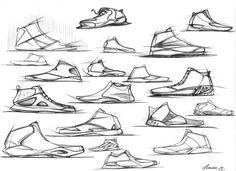 Footwear Hand sketches Set 001 by Arnau Sanjuan Roman, via Behance