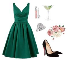 Anastasia Steele - Christian's Birthday & The Proposal by ohmyfifty on Polyvore featuring Christian Louboutin, EWA, Christian Dior and LSA International