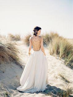 20 Statement Back Wedding Dresses | SouthBound Bride | http://southboundbride.com/20-statement-back-wedding-dresses | Credit: Kina Wicks/Amanda Wakeley/Luna Bella/Kalyn Hemphill via Lace in the Desert
