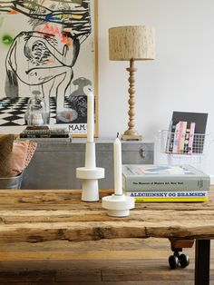 love the art and wood #home #decor