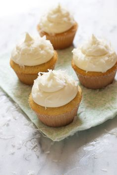 The Baker Chick: Creamy Coconut Cupcakes. Recipe adapted from Ina Garten via Jackie Ourman