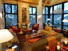 dream home. Love the warm colors and mix of wood and modern textures.