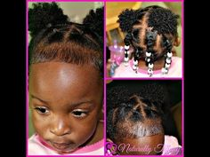 Very Cute and Easy Style for my 1 year old Black Baby Girl Hairstyles, Baby Girl Haircuts, Toddler Braided Hairstyles, Natural Hairstyles For Kids, Toddler Hair Dos, Pelo Rasta, Trends, Type 4, 1 Year