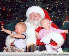 Funny Santa Baby Christmas Photos Holiday Photos Santa Christmas Merry Christmas Funny