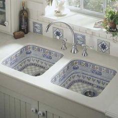 country style kitchen sink design
