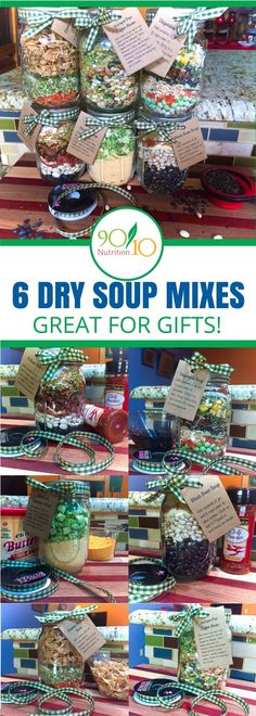 61 Trendy Holiday Gifts In A Jar Products Homemade Dry Mixes, Homemade Soup, Homemade Gifts, Christmas Jars, Homemade Christmas Gifts, Holiday Gifts, Dry Soup Mix, Soup Mixes, Pot Mason