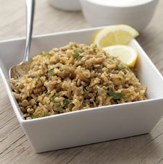 Try something different. Bulgur and Lentils make a great main dish salad. Mint and lemon add a bright freshness to this meatless dish.