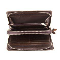 327396bb472d male purse Picture - More Detailed Picture about WESTAL Double Zipper Money  Clip Wallet Clutch Bag Men's Purses Genuine Leather Men Wallets Leather Man  ...