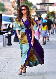 823f655ea9fe9 Camila Alves is a vision of loveliness in flowing wraparound dress