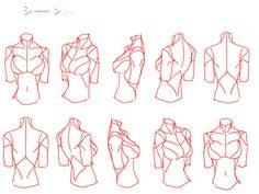 「個人的上半身(女性)の描き方。」/「0033」の漫画 [pixiv]