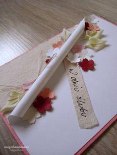 Meg's Handmade: Kwiatowa kartka ślubna #kartkaślubna #cardmaking #scrapbooking #wedding #weddingcard
