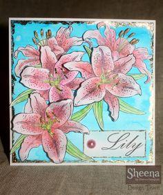 Sheena Douglass Lily stamp