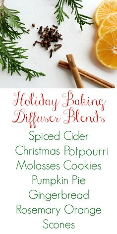 These holiday diffuser blends smell absolutely amazing!