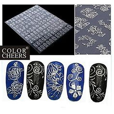 Kaifina 1x 108 PCS 3D Silver Flower Nail Art Stickers -- Be sure to check out this awesome product.