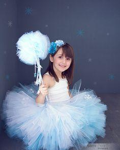 Frozen Tutu, Princess Elsa, Snow Princess, Frozen Costume, Frozen Party, Winter Wonderland Tutu, Blue and White Tutu, Disney Frozen