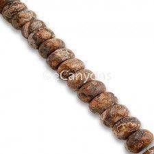6mm Rondelle Leopardskin Jasper Gemstone Beads   Price : $5.99