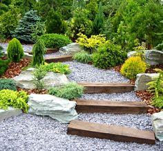 blue slate chipping garden paths | ... Garden | Gravel Gardens | Garden Slate Mulch Bark Llandudno | Garden