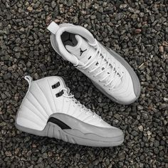 The Air Jordan 12 Retro GS Wolf Grey is available now at kickbackzny.com.
