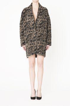 Oversize leopard printed jacket in sleek wool quality from the Ganni A/W 2014 collection