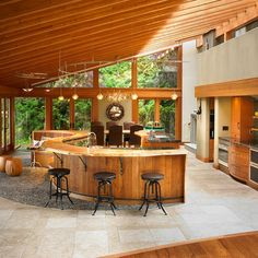 eclectic kitchen by The Sky is the Limit Design pool house bar