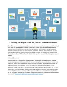 Choosing the right name for your e commerce business