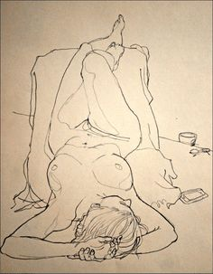 """Johnson, Rich - """"Thursday Morning Life Drawing"""" #gesture, #figure, #figurative…"""